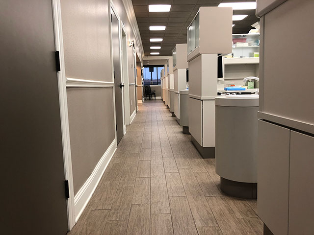 Hallway at McDonald Dental in Houston, TX